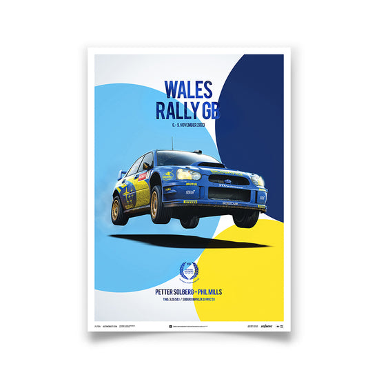 Subaru Impreza WRC 2003 Champion - Petter Solberg - Wales Rally GB - Collector's Edition Print