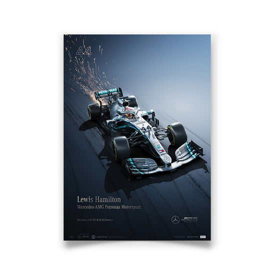 Mercedes-AMG Petronas Motorsport - 2019 Lewis Hamilton - Collector's Edition Print