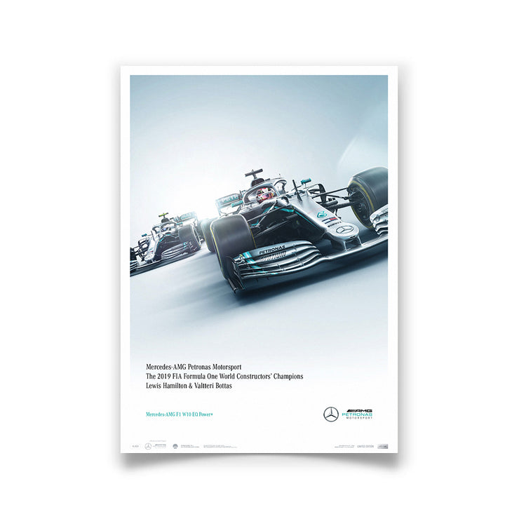 Mercedes-AMG Petronas Motorsport - 2019 F1 World Constructors Champions - Limited Edition Print