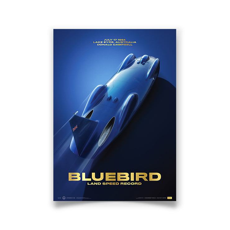 Bluebird - Donald Campbell 1964 Land Speed Record - Australia  - Collector's Edition Print