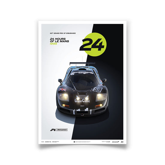 McLaren F1 GTR - 1995 24h Le Mans Winner Day/Night Print