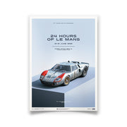 Ford GT40 1966 LeMans 24HR 2nd Place Print