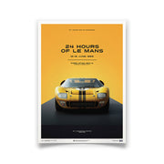 Ford GT40 1966 LeMans 24HR Yellow Print