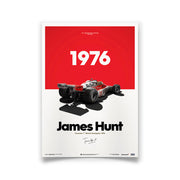 McLaren M23 James Hunt 1976 F1 World Championship Winner Print