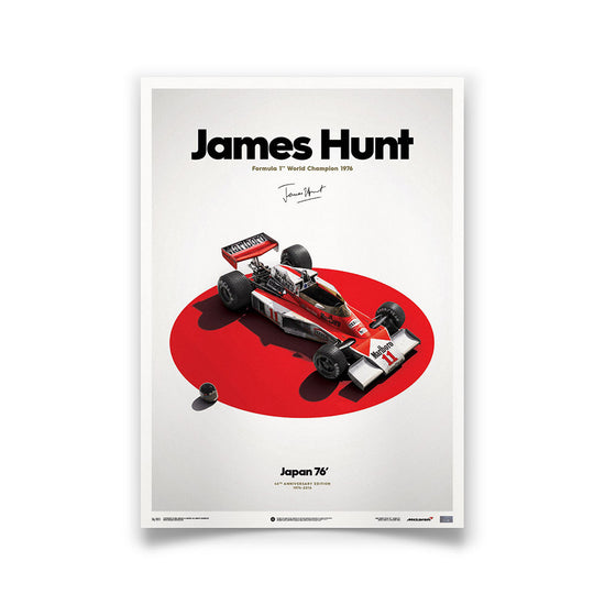 McLaren M23 James Hunt 1976 F1 World Championship Winner - Japanese GP Print