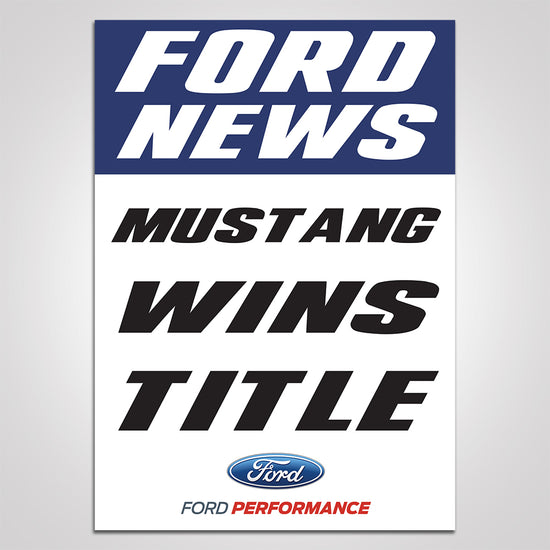 """Mustang Wins Title"" Poster"
