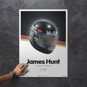James Hunt - Helmet 1976 Print