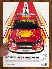 Scott McLaughlin 2017 Bathurst 1000 Pole - Standard Edition Print