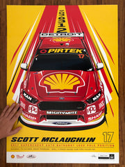Scott McLaughlin 2017 Bathurst 1000 Pole Position - Variant Edition Print