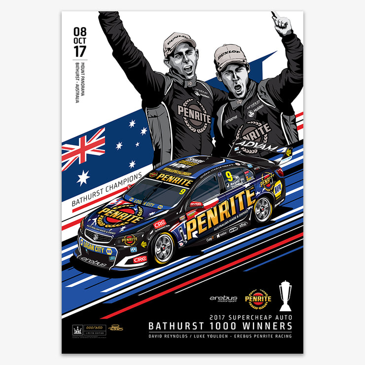 Erebus Penrite Racing 2017 Bathurst 1000 Winner - Standard Edition Print