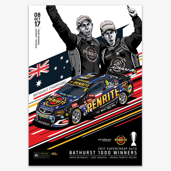 Erebus Penrite Racing 2017 Bathurst 1000 Winner - Variant Edition Print