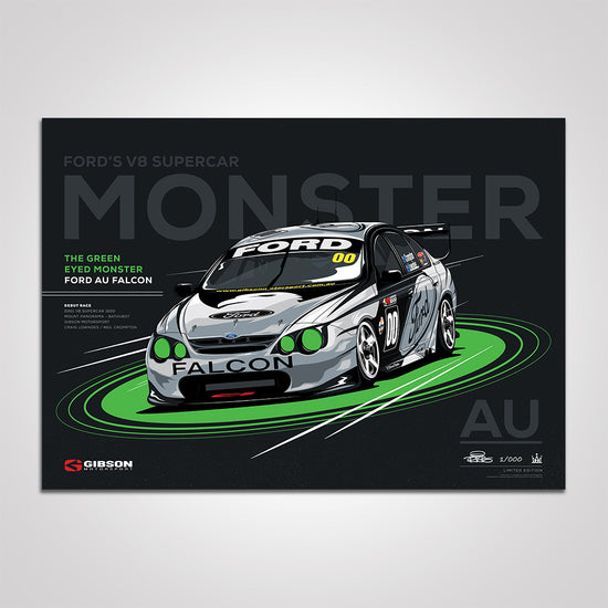 Ford AU Falcon 'Green Eyed Monster' Race Debut Limited Edition Print