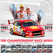 Dick Johnson Racing / DJR Team Penske 100 Championship Race Wins Print