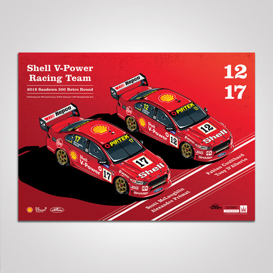 Shell V-Power Racing Team 2018 Sandown 500 Retro Round Print