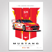 The Legend Returns: 2019 Shell V-Power Racing Team #17 Scott McLaughlin Mustang Illustrated Print