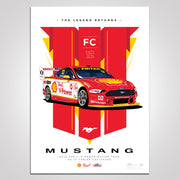 The Legend Returns: 2019 Shell V-Power Racing Team #12 Fabian Coulthard Mustang Illustrated Print