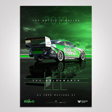2019 The Bottle-O Racing #5 Ford Mustang Lee Holdsworth Print (Pre-Order)