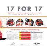 """17 for 17"" - DJRTP04: The Most Championship Race Wins in DJR/DJRTP History Print"