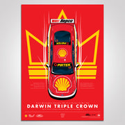 Scott McLaughlin Becomes The First Driver To Win The Darwin Triple Crown Print