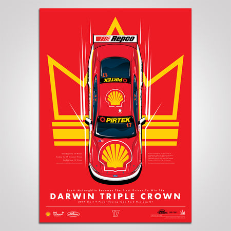 Scott McLaughlin Becomes The First Driver To Win The Darwin Triple Crown Print (Pre-Order)