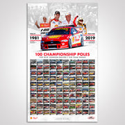 Dick Johnson Racing / DJR Team Penske 100 Championship Poles Print