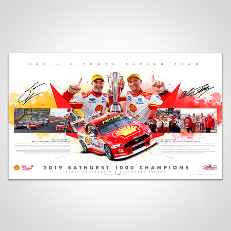 Shell V-Power Racing Team 2019 Bathurst 1000 Champions Signed Limited Edition Print (Pre-Order)
