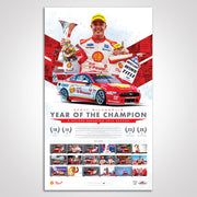 Shell V-Power Racing Team Scott McLaughlin 2019 'Year of The Champion' Limited Edition Print