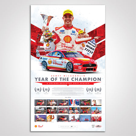 Shell V-Power Racing Team Scott McLaughlin 2019 'Year of The Champion' Limited Edition Print (Pre-Order)