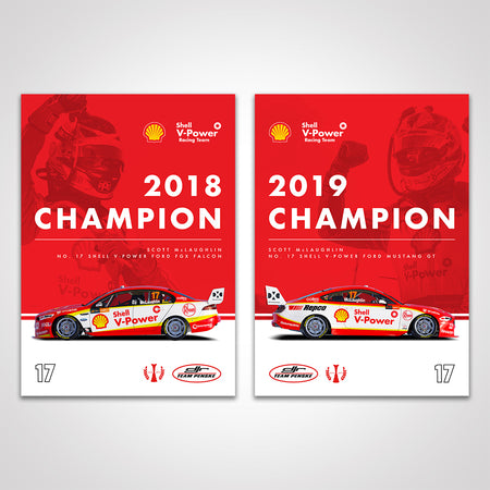 Shell V-Power Racing Team Scott McLaughlin 'Back To Back Champion' Poster Set (Pre-Order)