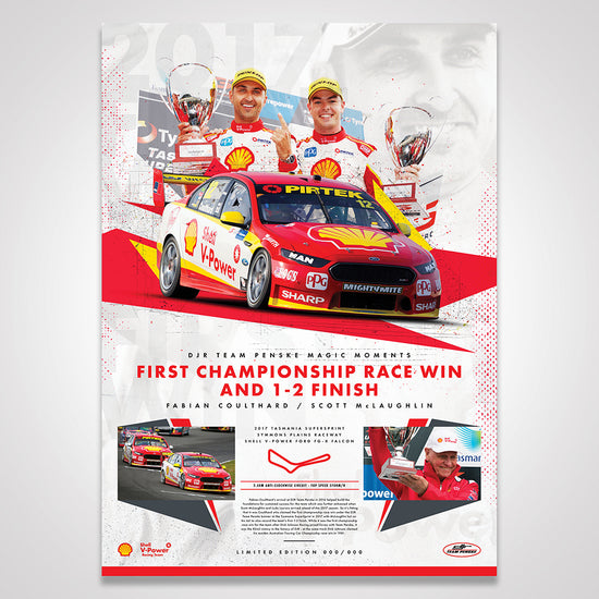 DJR Team Penske Magic Moments Limited Edition Print: First Championship Race Win and 1-2 Finish (Pre-Order)
