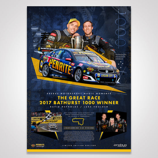 Erebus Penrite Racing Magic Moments Limited Edition Print: 2017 Bathurst 1000 Winner