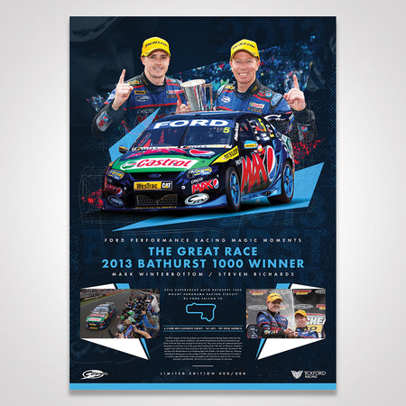 Ford Performance Racing Magic Moments Limited Edition Print: 2013 Bathurst 1000 Winner