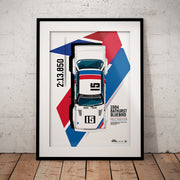 1984 Bathurst Bluebird Pole Position Limited Edition Illustrated Print (Pre-Order)