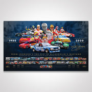 40th Anniversary of Dick Johnson Racing / DJR Team Penske Signed Limited Edition Print (Pre-Order)