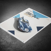 Jaguar D Type 1957 24hr Le Mans Winner Print