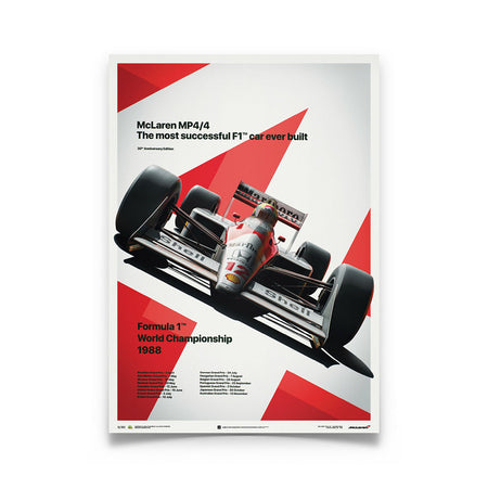McLaren MP4/4 Ayrton Senna 1988 F1 World Champion (MP4/4) Print