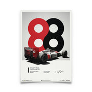 McLaren MP4/4 Ayrton Senna 1988 F1 World Champion (1988) Print