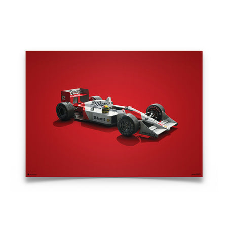 McLaren MP4/4 Ayrton Senna Colors of Speed Print