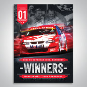 The Mountain Decades - 2001 Bathurst Winners Poster