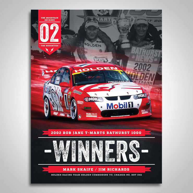 The Mountain Decades - 2002 Bathurst Winners Poster
