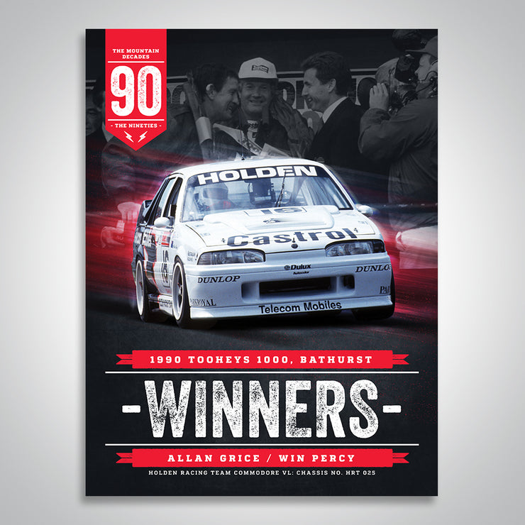 The Mountain Decades - 1990 Bathurst Winners Poster