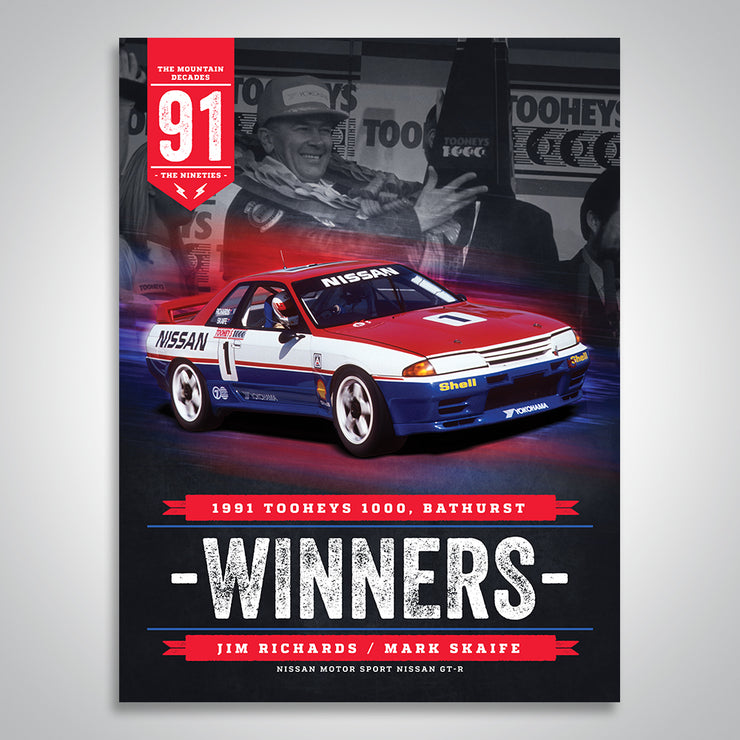 The Mountain Decades - 1991 Bathurst Winners Poster