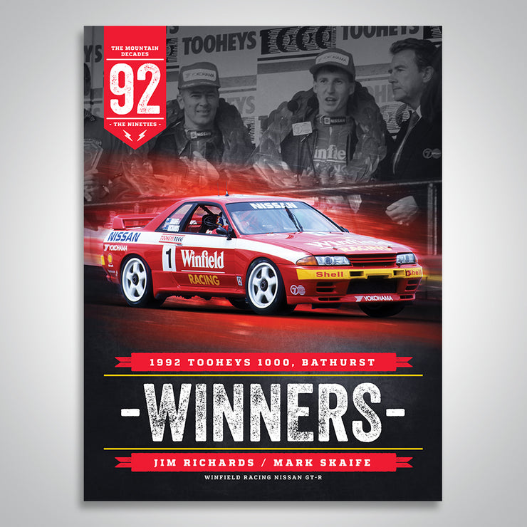 The Mountain Decades - 1992 Bathurst Winners Poster