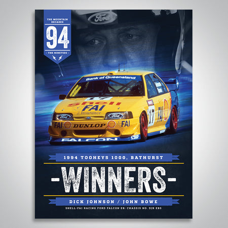 The Mountain Decades - 1994 Bathurst Winners Poster