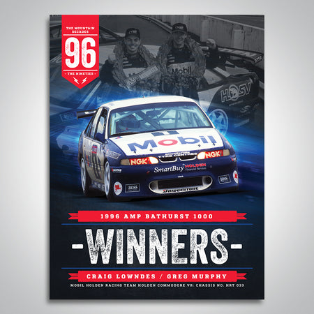 The Mountain Decades - 1996 Bathurst Winners Poster