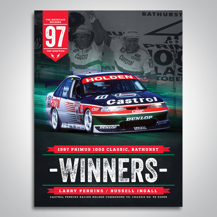 The Mountain Decades - 1997 Bathurst Winners Poster