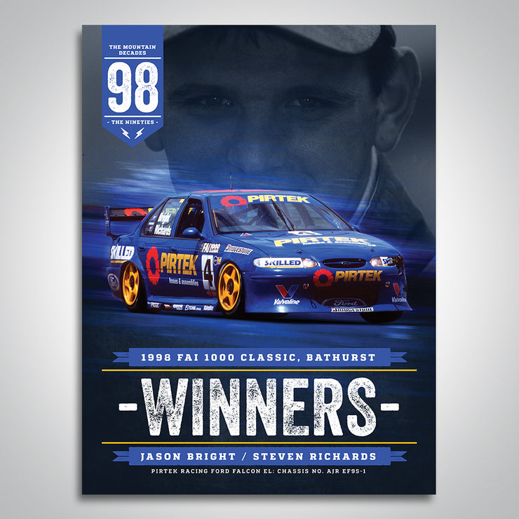 The Mountain Decades - 1998 Bathurst Winners Poster