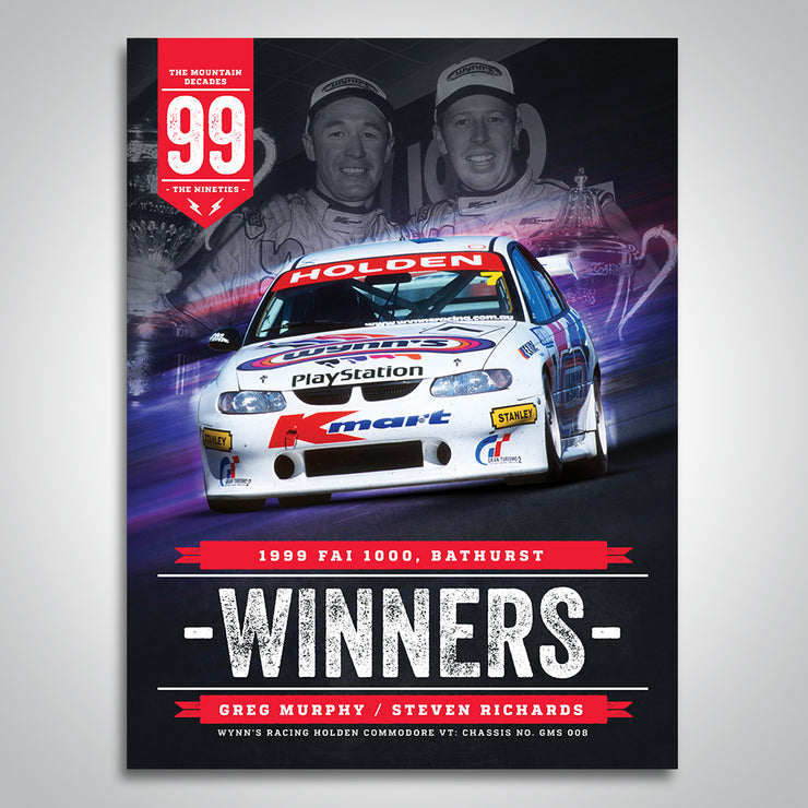 The Mountain Decades - 1999 Bathurst Winners Poster