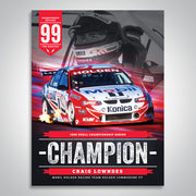 The Championship Decades - 1999 V8 Supercar Champion Poster