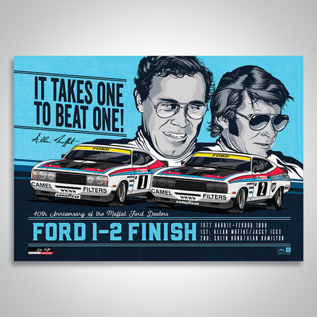 Moffat Ford Dealers 40th Anniversary Bathurst 1000 1-2 Finish Print